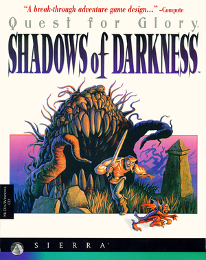 Cover for Quest for Glory: Shadows of Darkness.
