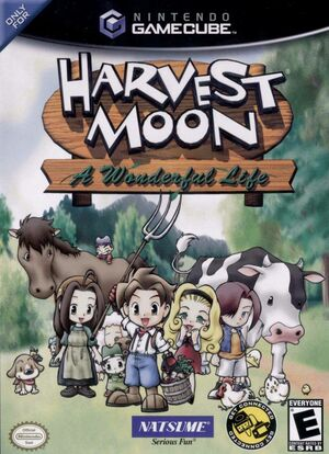 Cover for Harvest Moon: A Wonderful Life.