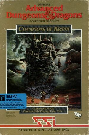 Cover for Champions of Krynn.