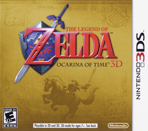 Cover for The Legend of Zelda: Ocarina of Time 3D.
