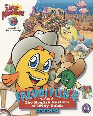 Cover for Freddi Fish 4: The Case of the Hogfish Rustlers of Briny Gulch.