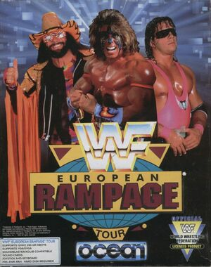 Cover for WWF European Rampage Tour.