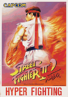 Cover for Street Fighter II' Turbo: Hyper Fighting.