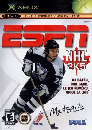 Cover for ESPN NHL 2K5.