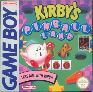 Cover for Kirby's Pinball Land.