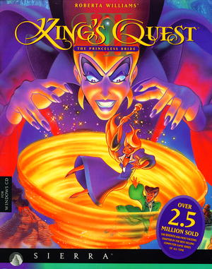 Cover for King's Quest VII: The Princeless Bride.