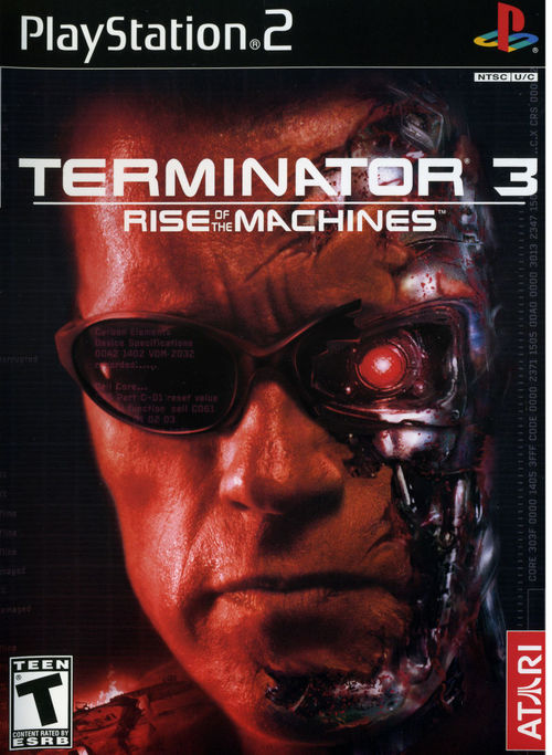 Cover for Terminator 3: Rise of the Machines.
