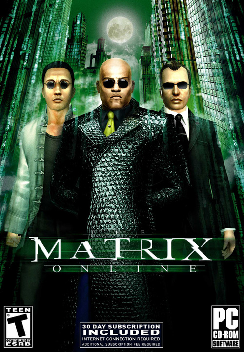 Cover for The Matrix Online.
