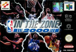 Cover for NBA in the Zone 2000.