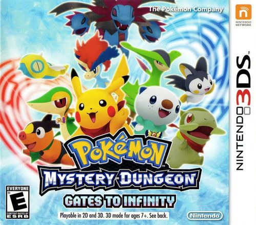 Cover for Pokémon Mystery Dungeon: Gates to Infinity.