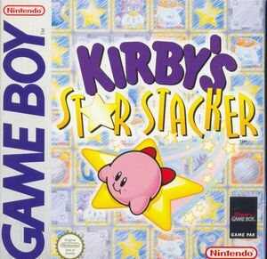 Cover for Kirby's Star Stacker.