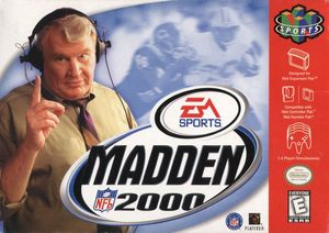 Cover for Madden NFL 2000.