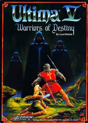Cover for Ultima V: Warriors of Destiny.