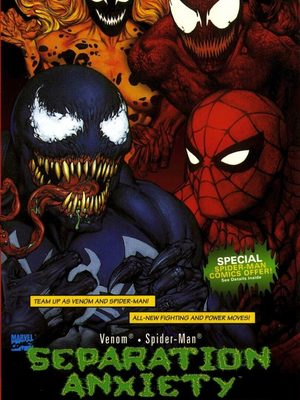Cover for Venom/Spider-Man: Separation Anxiety.