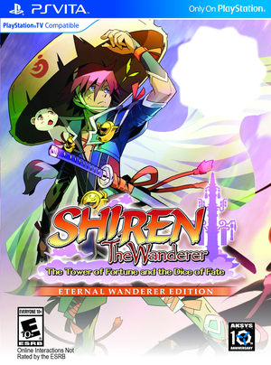 Cover for Shiren the Wanderer: The Tower of Fortune and the Dice of Fate.