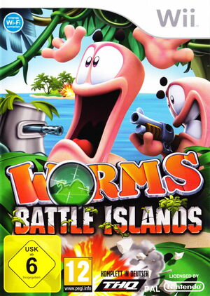 Cover for Worms: Battle Islands.