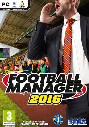 Cover for Football Manager 2016.