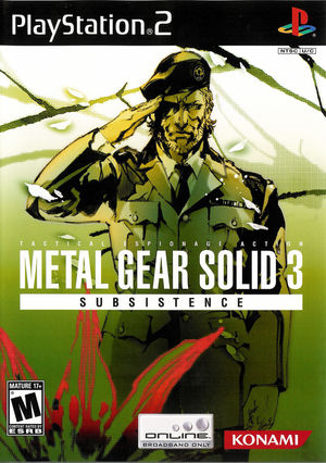 Cover for Metal Gear Solid 3: Subsistence.