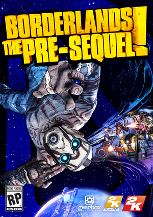 Cover for Borderlands: The Pre-Sequel.
