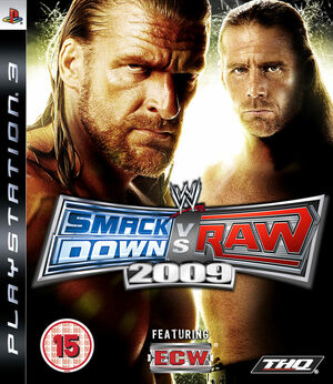 Cover for WWE SmackDown vs. Raw 2009.