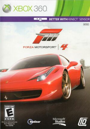 Cover for Forza Motorsport 4.
