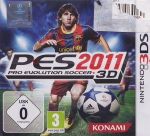 Cover for Pro Evolution Soccer 2011 3D.