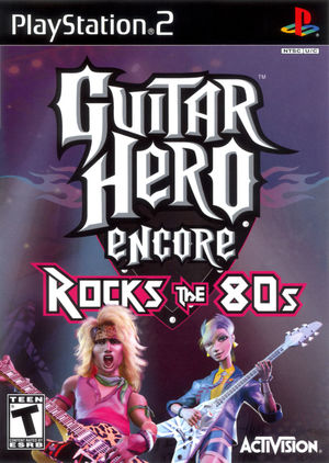 Cover for Guitar Hero Encore: Rocks the 80s.