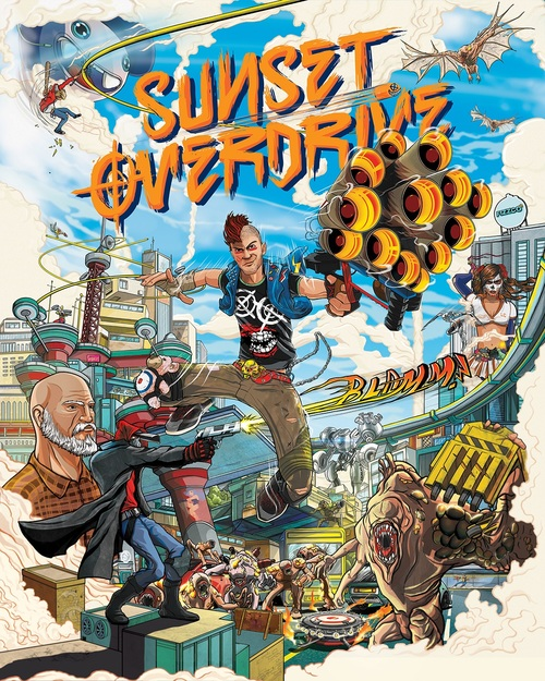 Cover for Sunset Overdrive.
