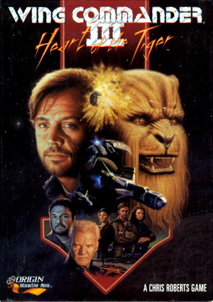 Cover for Wing Commander III: Heart of the Tiger.