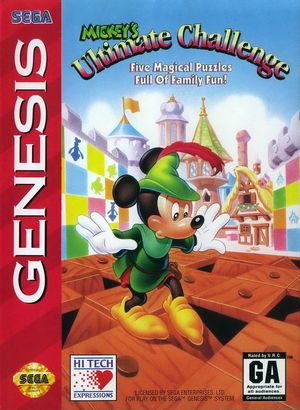 Cover for Mickey's Ultimate Challenge.