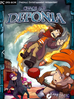 Cover for Chaos on Deponia.