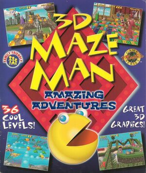 Cover for 3D Maze Man: Amazing Adventures.