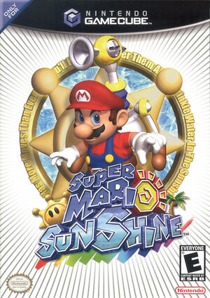 Cover for Super Mario Sunshine.