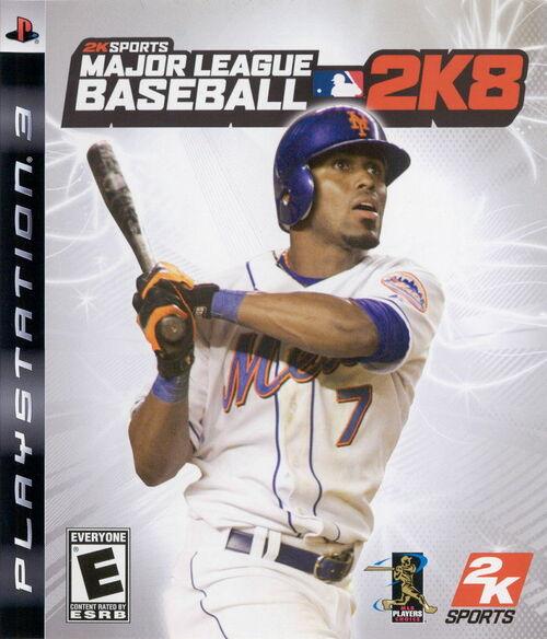 Cover for Major League Baseball 2K8.