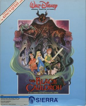 Cover for The Black Cauldron.