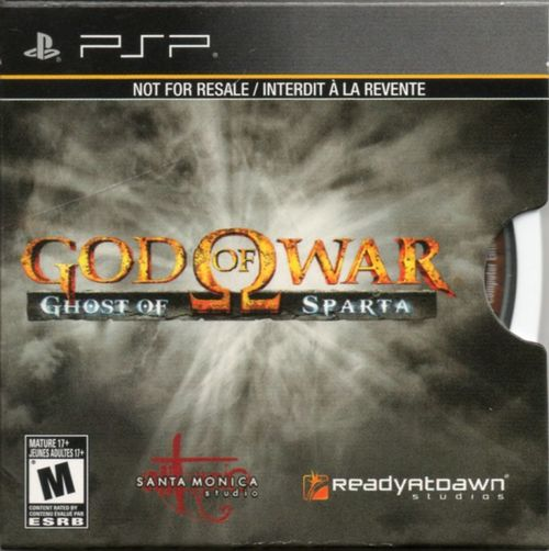 Cover for God of War: Ghost of Sparta.