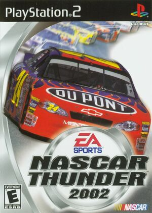 Cover for NASCAR Thunder 2002.