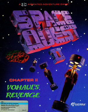 Cover for Space Quest II: Vohaul's Revenge.