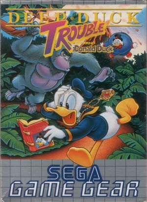 Cover for Deep Duck Trouble Starring Donald Duck.