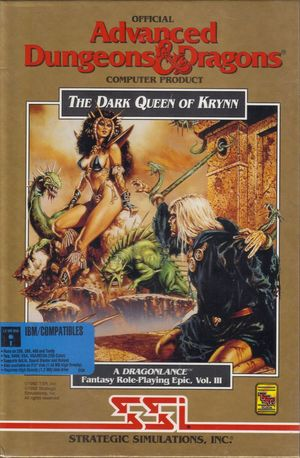 Cover for The Dark Queen of Krynn.