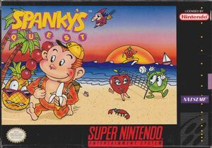 Cover for Spanky's Quest.