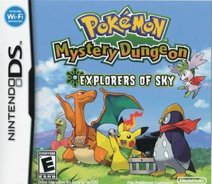 Cover for Pokémon Mystery Dungeon: Explorers of Sky.