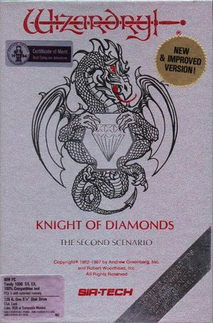 Cover for Wizardry II: The Knight of Diamonds.