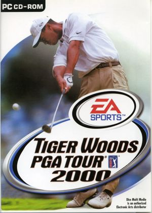 Cover for Tiger Woods PGA Tour 2000.