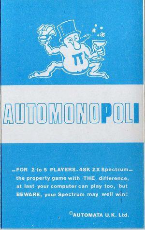 Cover for Automonopoli.