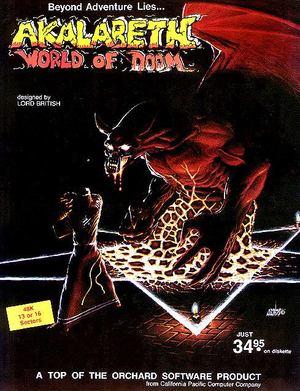 Cover for Akalabeth: World of Doom.