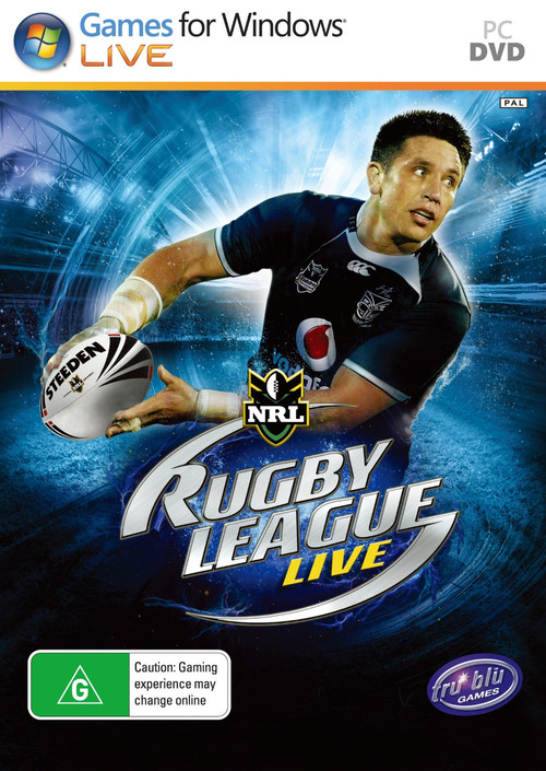 Cover for Rugby League Live.