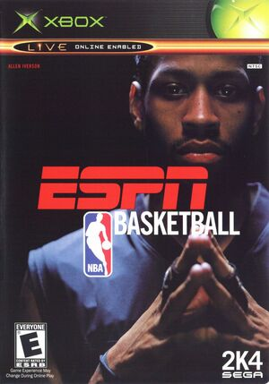 Cover for ESPN NBA Basketball.