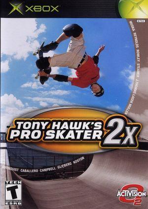 Cover for Tony Hawk's Pro Skater 2x.