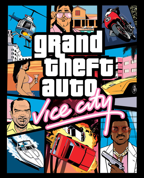 Cover for Grand Theft Auto: Vice City.